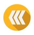 Left modern arrow icon flat style vector image vector image