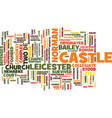 leicester castle text background word cloud vector image vector image