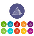 louvre pyramid icon outline style vector image vector image
