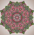 Mandala round ornament pattern with floral vector image