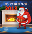 merry christmas and happy new year 2018 realisti vector image