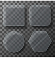 modern transparent glass plates set vector image vector image