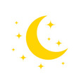 moon and star yellow icon for night vector image