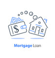 mortgage loan refinance low interest rate vector image