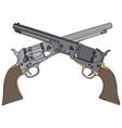 Old american handguns vector image vector image