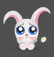 Portrait of a sad rabbit vector image
