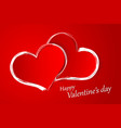 postcard for valentines day horizontal vector image vector image