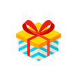 present box isometric object vector image vector image