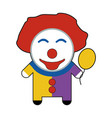 profession character clown vector image