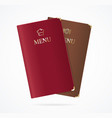 realistic detailed 3d red and brown menu vector image vector image