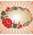 red floral border vector image vector image