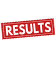 results sign or stamp vector image vector image