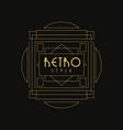 retro style logo luxury vintage geometric vector image vector image