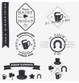saint patricks day set typographic badges vector image vector image