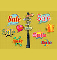 sales background pole sign vector image vector image