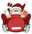 Santa Claus in action vector image