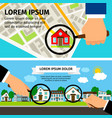 search house concept magnifying glass select with vector image vector image