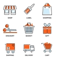 Set of shopping and retail outline icons vector image vector image