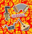 Set russian icons Balalaika Samovar Ushanka vector image vector image
