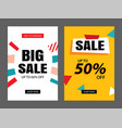 set sale banner templates for vector image