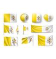 set vatican flags banners banners symbols flat vector image