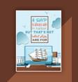 ship in bottle boat in miniature backdrop vector image vector image