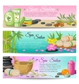 Spa Salon Horizontal Banners Set vector image