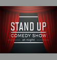 stand up comedy at night festive banner vector image vector image