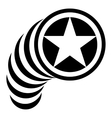 Star in circle icon simple style vector image vector image