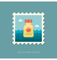 Sunscreen flat stamp vector image vector image