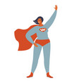 superhero woman character wonderful female hero vector image