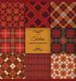 tartan seamless pattern set vector image