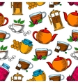 Tea time coffee and desserts background vector image