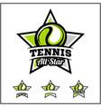 tennis ball all star badge logo