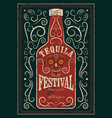 typographic retro grunge tequila festival poster