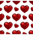 Valentines day pattern with heart vector image vector image
