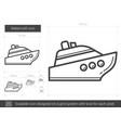 watercraft line icon vector image vector image