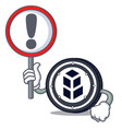 with sign bancor coin character cartoon vector image vector image