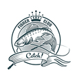 Fisher club vector image