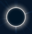 abstract background neon round eclipse with rays vector image