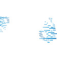 abstract blues lines design on white vector image