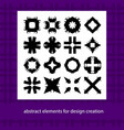 abstract elements for design ideas suits for vector image vector image