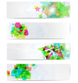 Abstract modern website banner set vector image