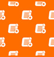 add new pattern orange vector image vector image