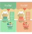 Baby Boy Girl Shower Invitation Cards Designs vector image