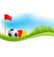background for football soccer sport vector image vector image