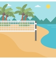 Background of beach volleyball court at seashore vector image vector image