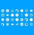 ball icon blue set vector image
