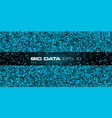 big data visualization blue abstract data vector image vector image