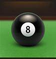 Billards Eight Ball vector image vector image